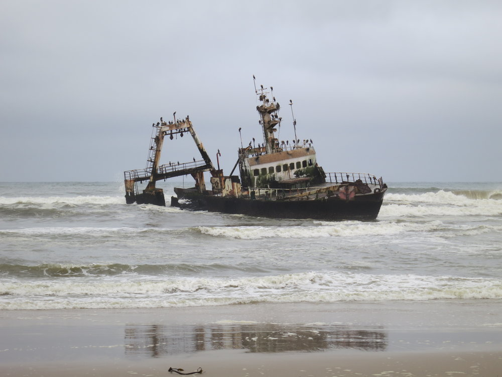 Recent shipwreck - Skeleton Coast, Namibia