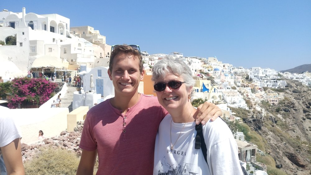 On vacation in Greece with my mom