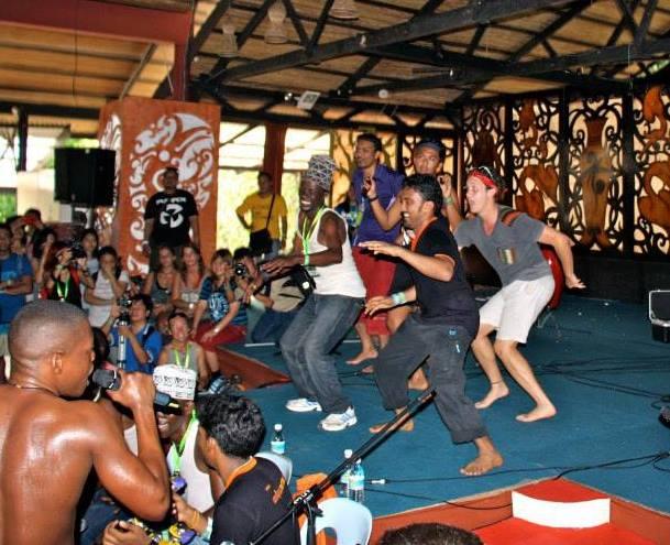 African dancing workshop in Borneo, Malaysia