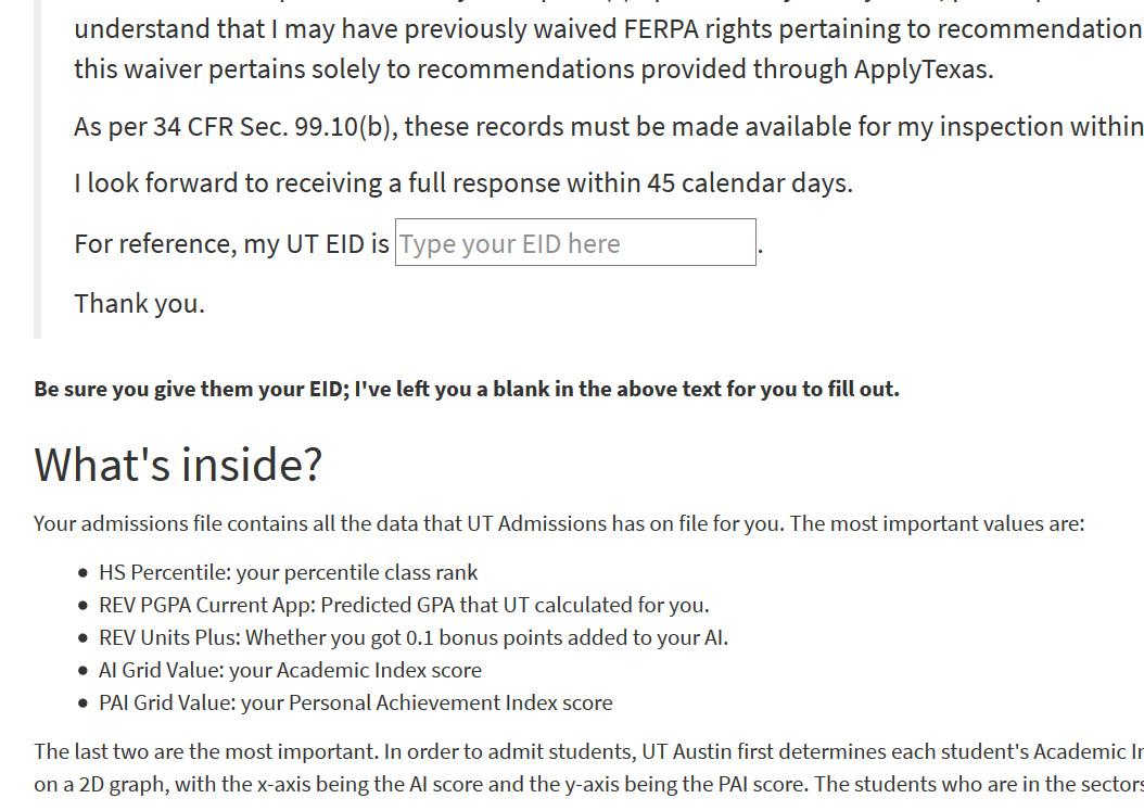 ferpa form ut austin  Open Records Request Your UT-Austin Admissions File — Tex ...