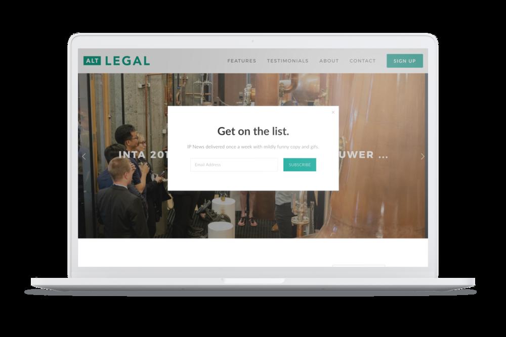 Alt Legal: analytics & design driven marketing