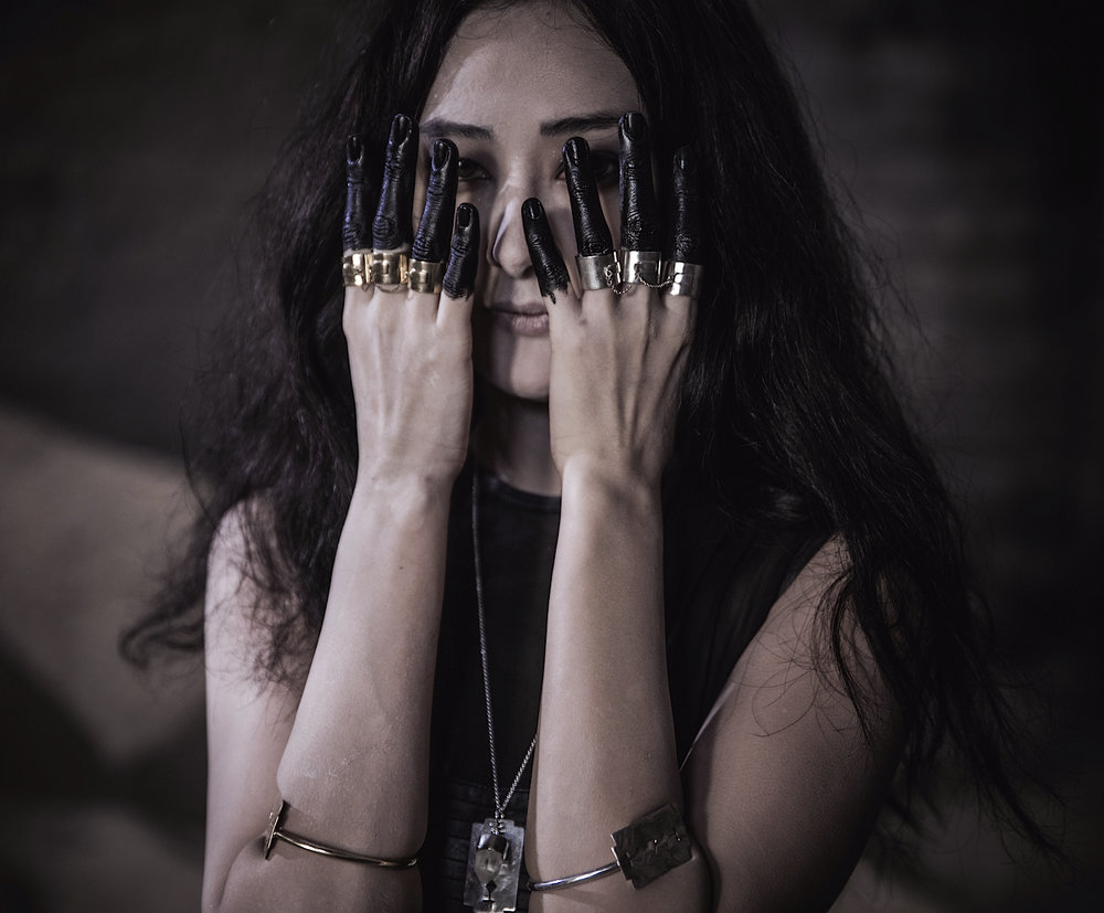 Haywire Knuckle Duster Rings and Razor Blade Bangles