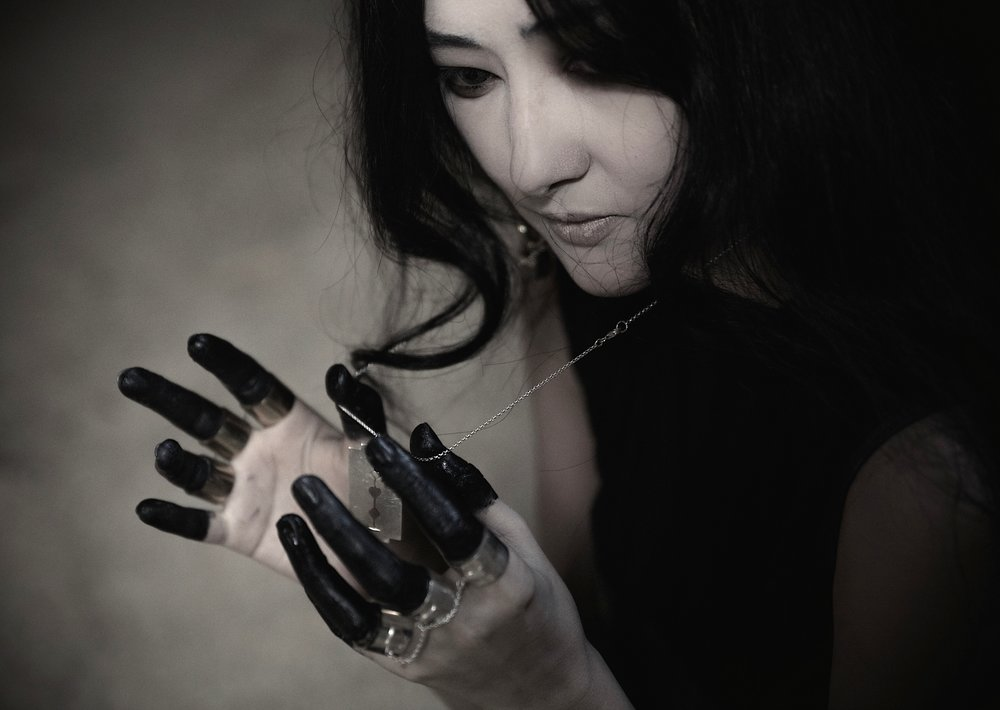 Haywire Razorblade Crystal Chain and Triple Chain Knuckleduster Rings