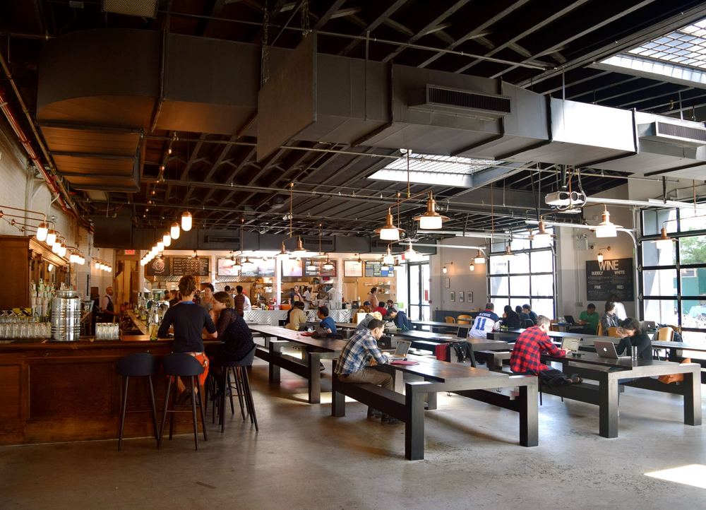 CAFETERIA/BAR/COFFEE SHOP AT 1000 DEAN STREET IN CROWN HEIGHTS, ETSY.ORG'S NEW HQ