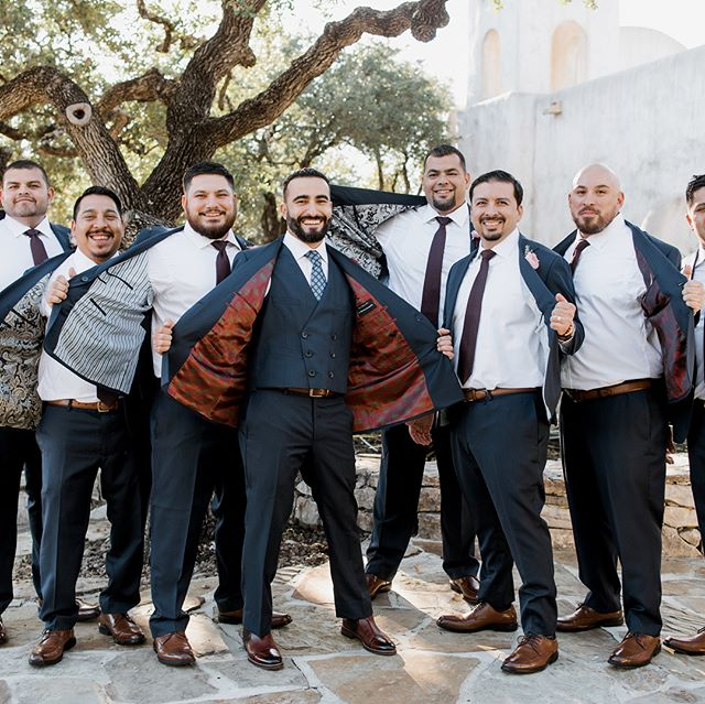✅ Groom ✅ Dad ✅ 7 Groomsmen  All wearing custom made suits from @r.u.d.y.r.u.b.e.n at Mario's wedding. Thank you for allowing us to play a tiny part in your long life of happiness.