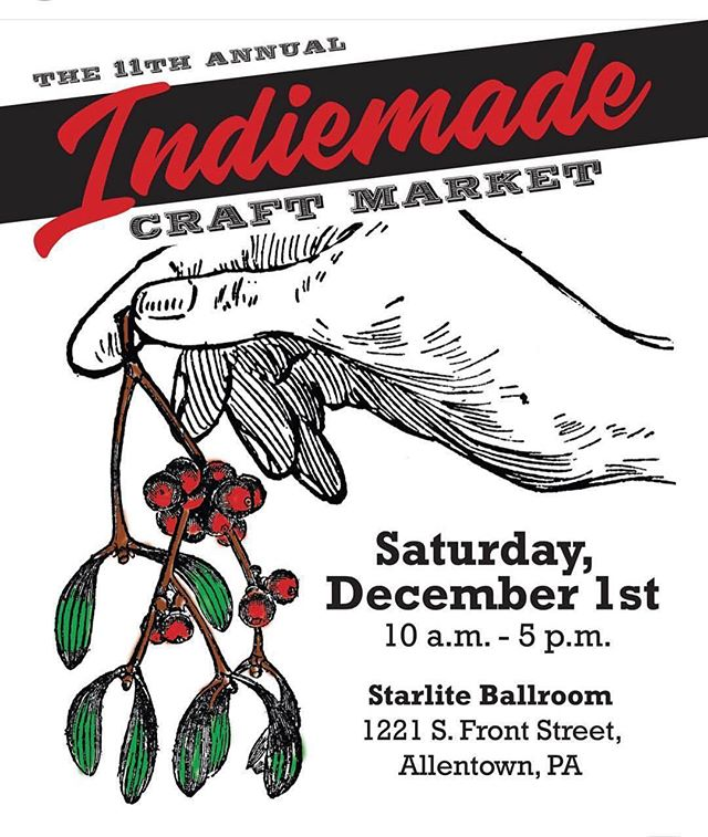 It's coming. December 1st. We will be there with many other vendors. A good way to start your Xmas 🎄 shopping, buying homemade presents 🎁 and supporting local crafters 🧵 Hope to see you there! 😉 #indiecraftmarket #lehighvalley #craftfair #allentown #decemberfirst #shopsmall