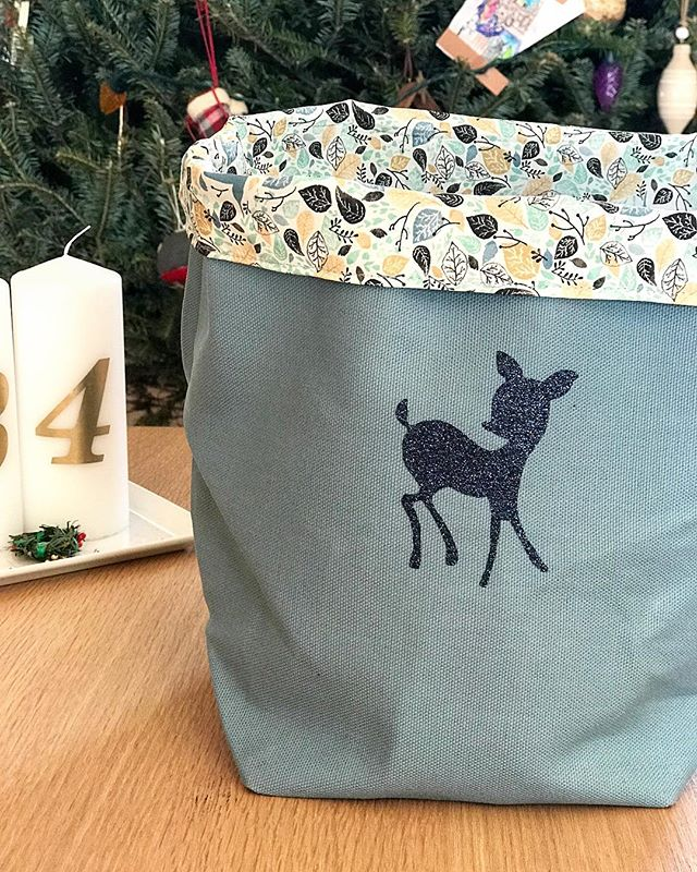 Fabric storage basket for my daughter! I can make any sizes and any fabric combo #pauletmadeleine #homemade #sewing #christmas #uniquepresents #shopsmall #lehighvalley