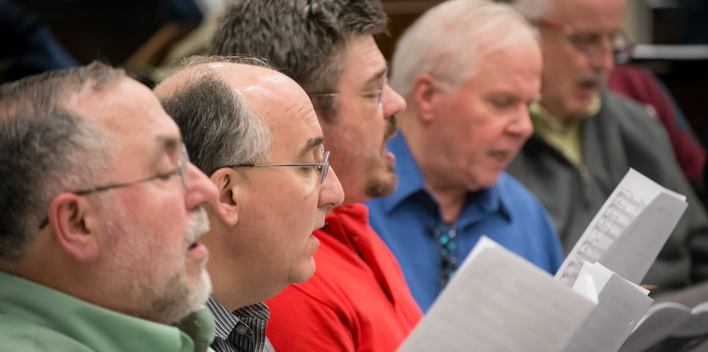 Talented singers in tenor and bass voice ranges are welcome to audition for the Bach Society of Dayton chorus