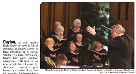 Cantata to Contemporary: Bach Society of Dayton salutes American Masters