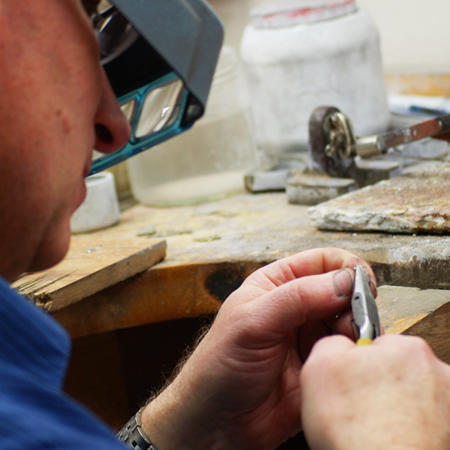 Our on-site goldsmith, David Cornfield, has been cleaning, repairing and designing jewellery at Jewels on Ninth for over 20 years.