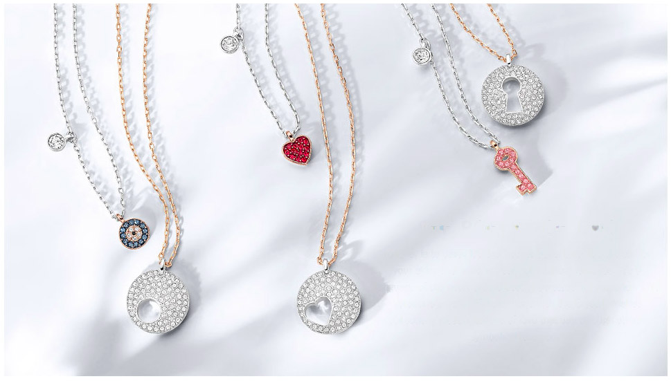 "The Crystal Wishes collection are modern tokens of love that say through stylish symbol: ""I love you."""
