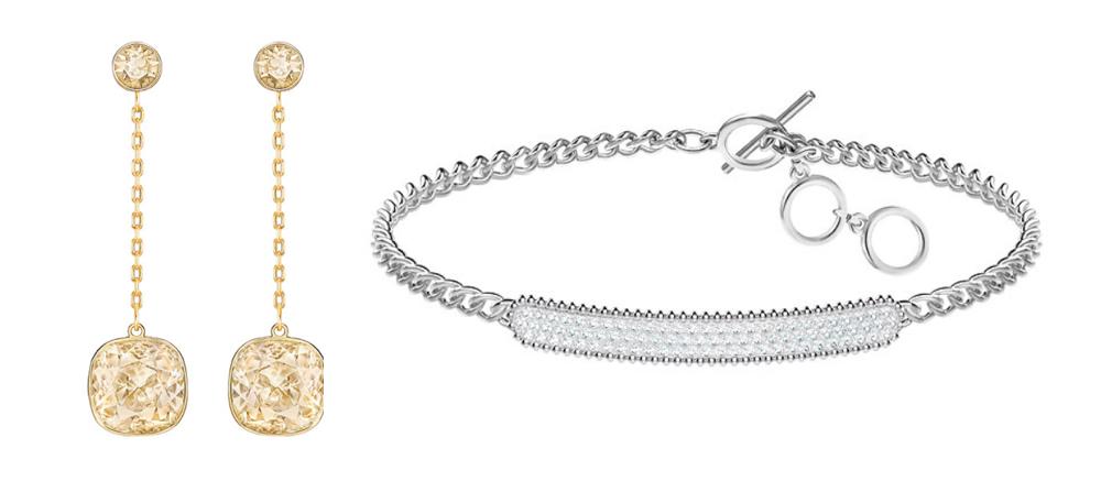 Michaela wearing swarovski earrings and bracelet.jpg