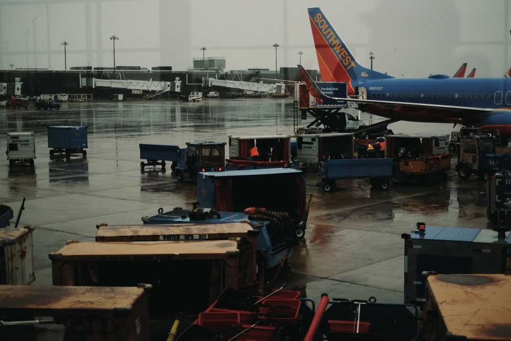 A joyfully rainy layover in BWI on the way down