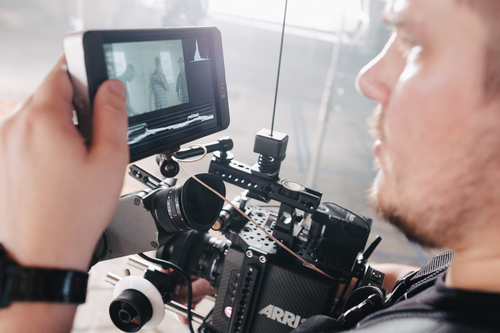 Me using my 702 on the Alexa Mini during a recent shoot.