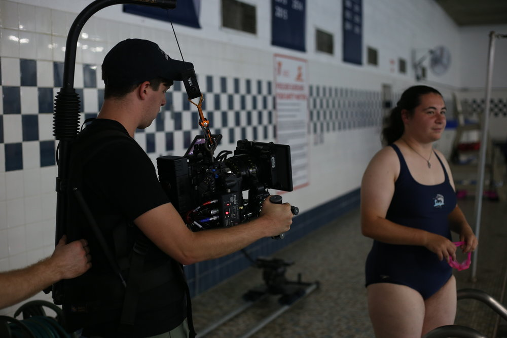 Some more easyrig action during the indoor pool scene.