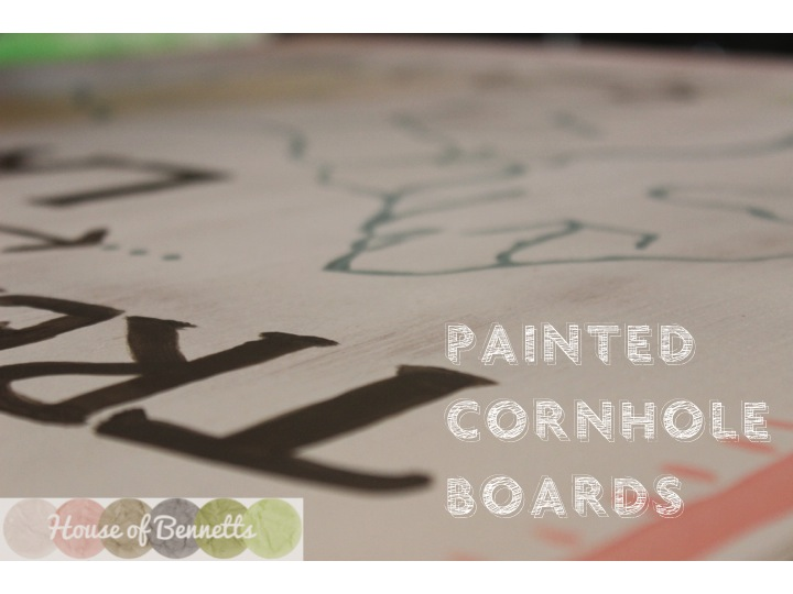 Painted Cornhole Boards