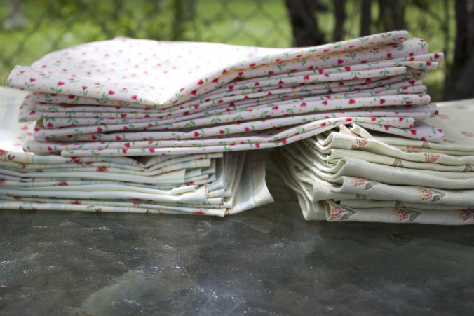 vintage napkins DIY