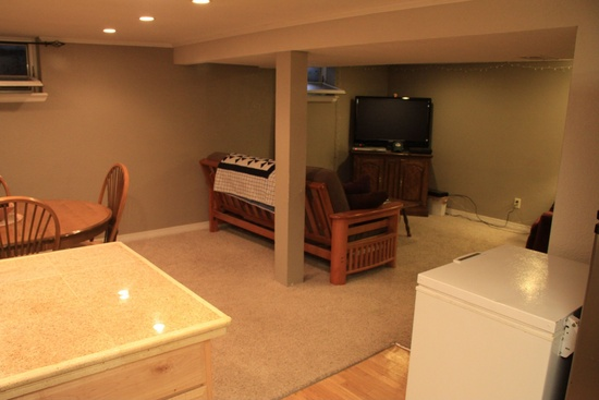 Basement Living Before