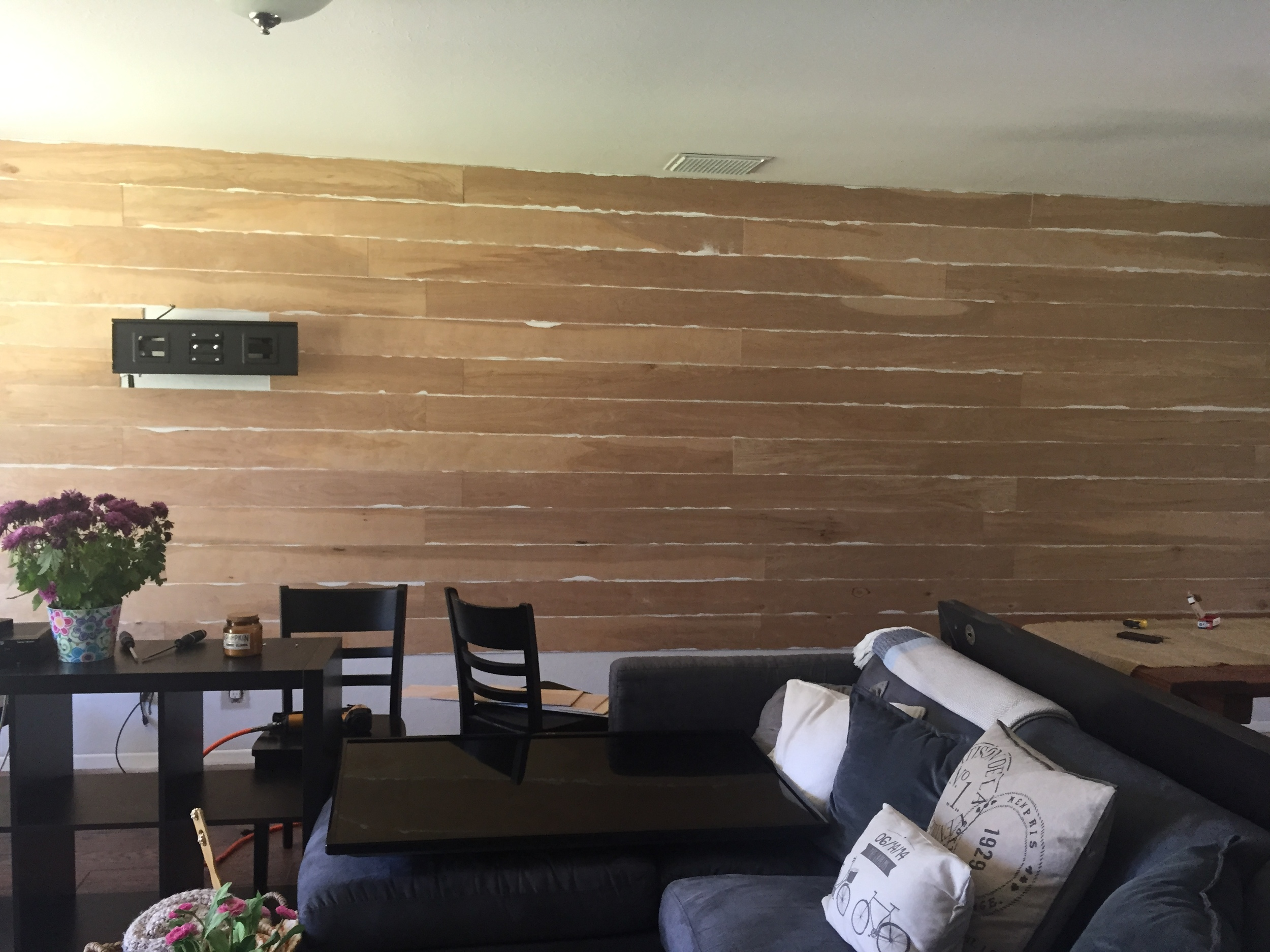 Diy Shiplap Or How To Hide Tv Cords House Of Bennetts