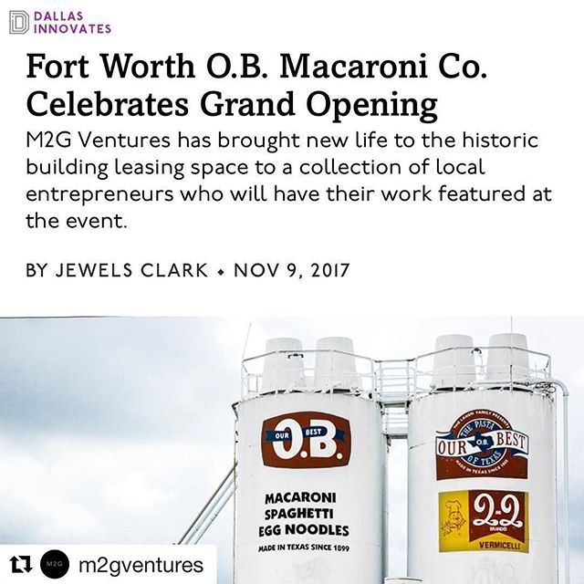 Come join us at the OB Mac grand opening for local brews and spirits, live music, coffee, ice cream, and macaroni on November 18th! #Repost @m2gventures with @repostapp ・・・ It's definitely a happy Friday when you come across a great write up on your project! Our grand opening event is happening just over a week away! We're so excited to share this space with you guys for an evening celebration of @o.b.mac Do you have your ticket? Thanks for the article, @dallasinnovates 😊