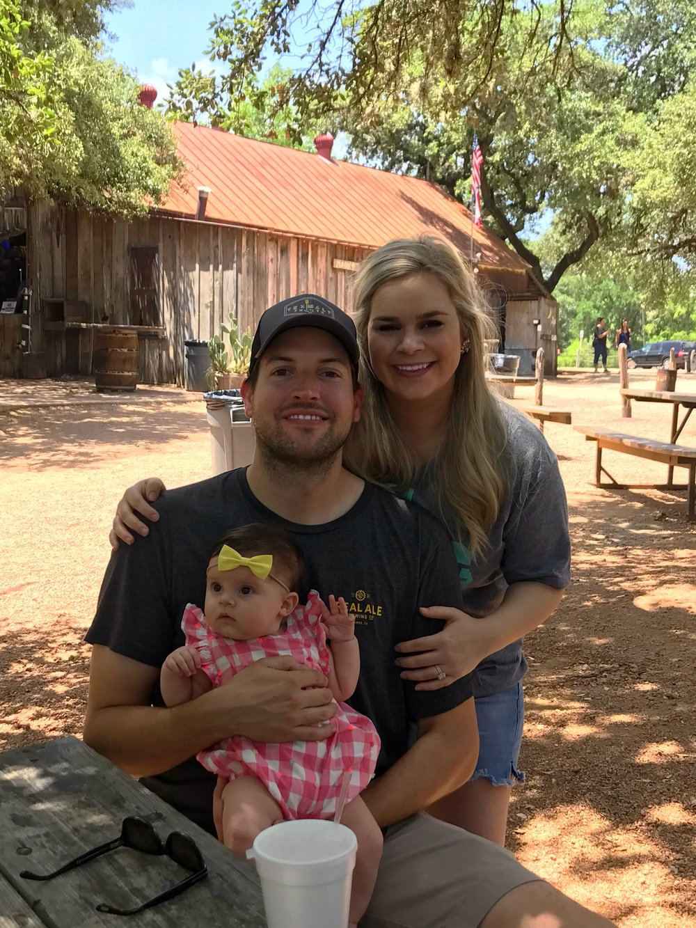 Austin with his Wife and Daughter.