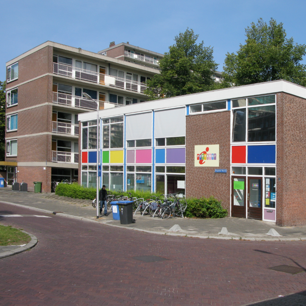 Early childhood education can begin near the home. This tower community has a pre-school operating within it.  Rotterdam, Netherlands