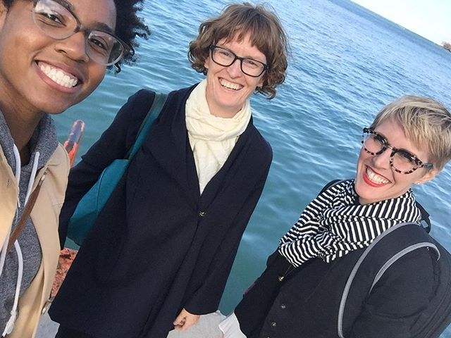 Beautiful Lake Michigan on a great day in Chicago with these two lovely ladies - @ch_hu @aishanailah @openengagement
