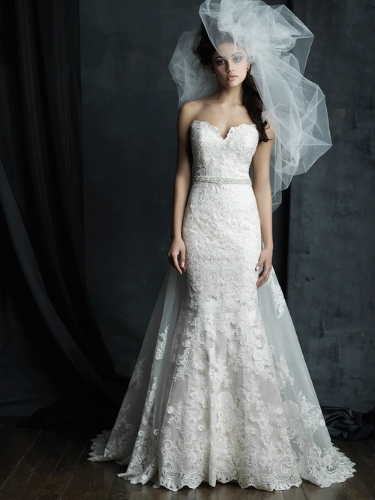Allure Bridals Cotoure :  C387F  with train