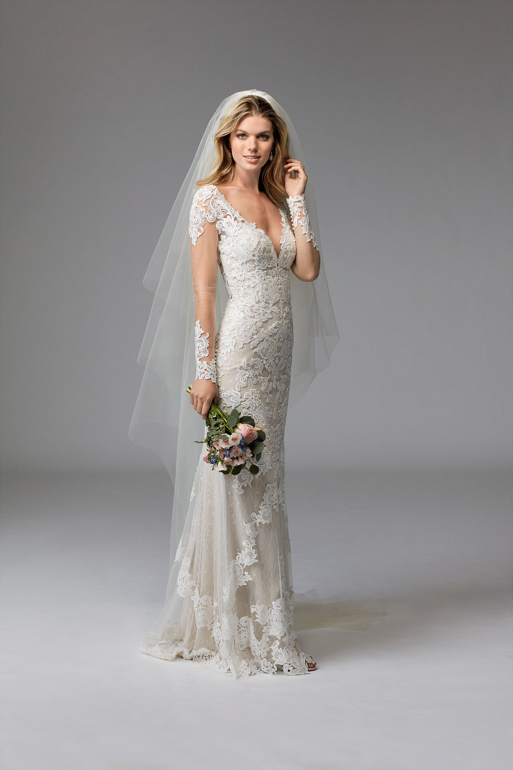 Wtoo's Claude has an illusion back and sleeves, which gives an elegant balance to her bold neckline!