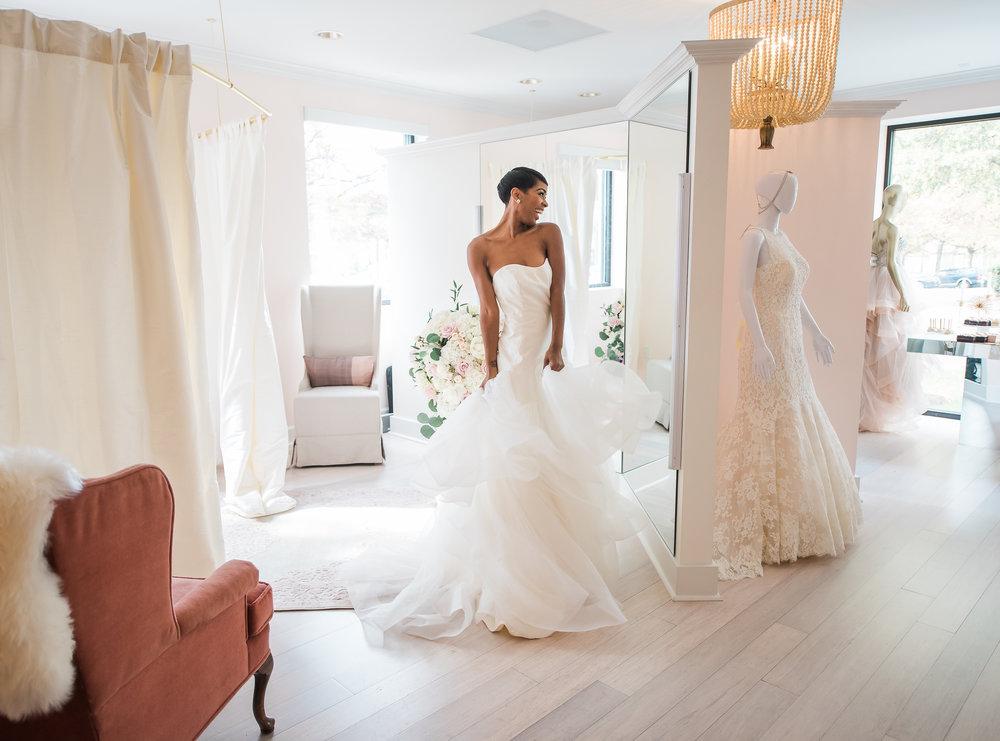 An intimate Bridal Boutique near Washington DC, MD and VA