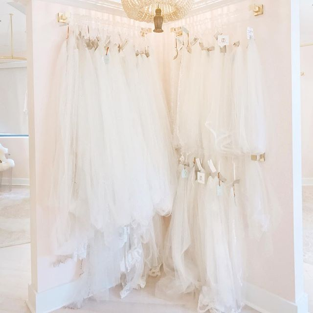 Your wedding day look isn't complete without a veil! 👰🏽👰🏼👰🏿 We have a gorgeous variety by @justinemcouture, @veiltrends and more. Thank you @shannonclaire for helping us arrange our new veil display 😍✨💕
