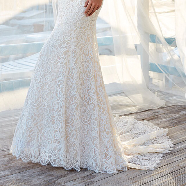 "(1 of 2) Anna by @eddyk_bridal is available with or without ""cold shoulder"" sleeves 😍 Try these and many more gowns June 16-24 ONLY when we host Eddy K's Dreams 2019 trunk show! By appointment only ✨💕"