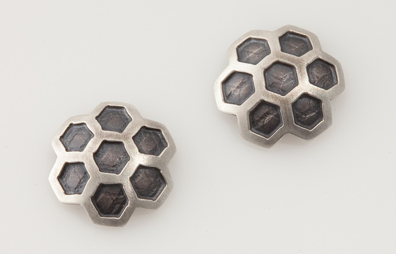 Honeycomb Stud Earrings.jpg