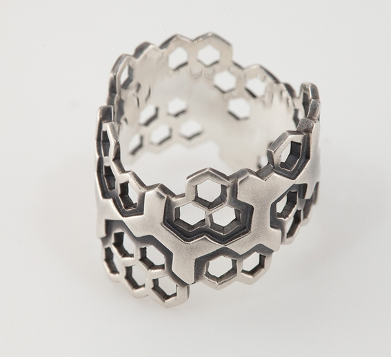 Honeycomb Open Band Ring.jpg