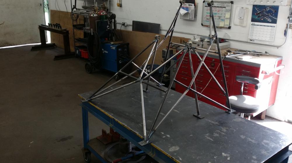 Airboat chromoly<br>tube engine mount