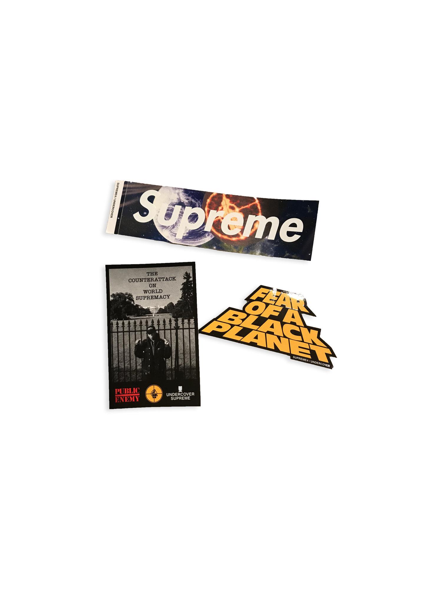 Public Enemy X Supreme Sticker Pack Digital Thrift