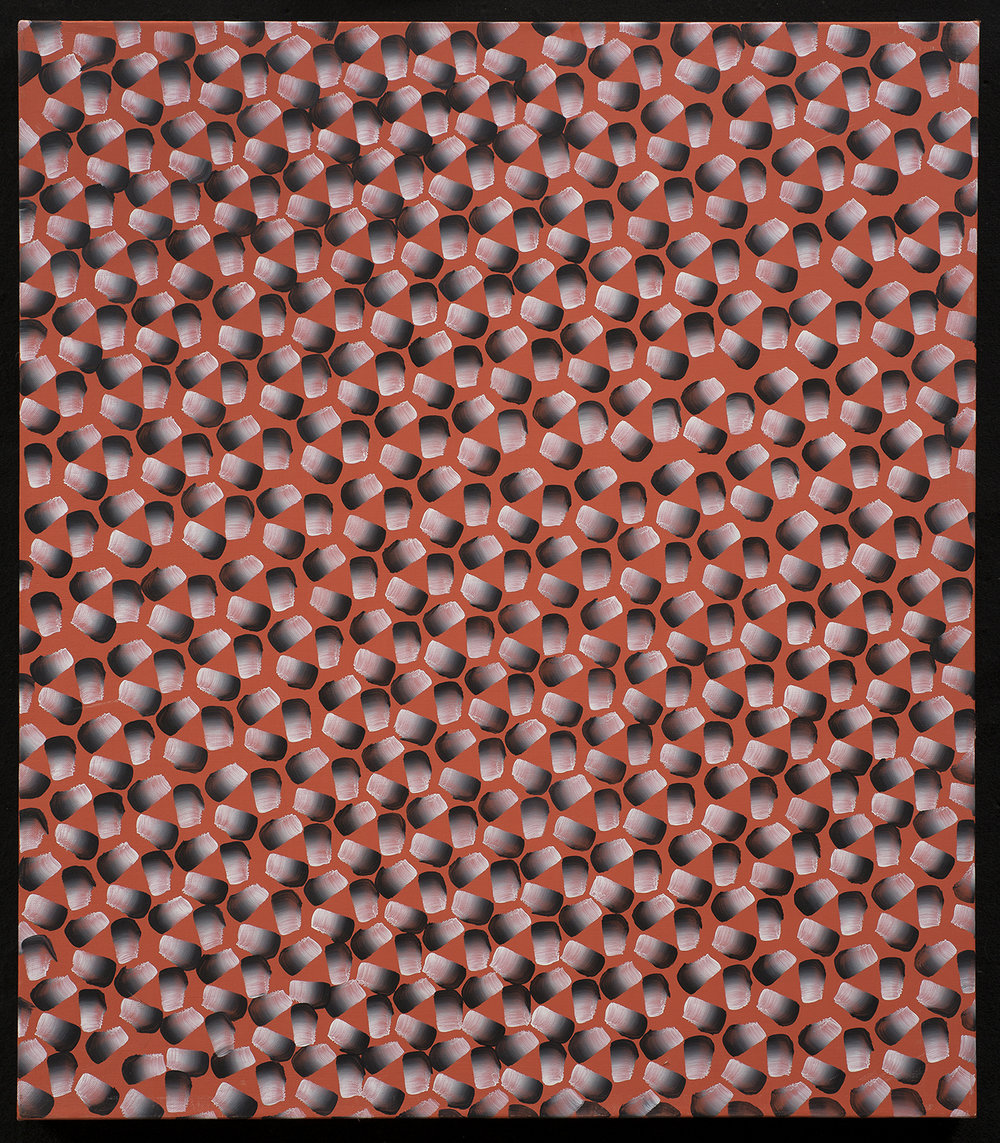 Orange Triad , 2012, oil on linen, 28 x 32""