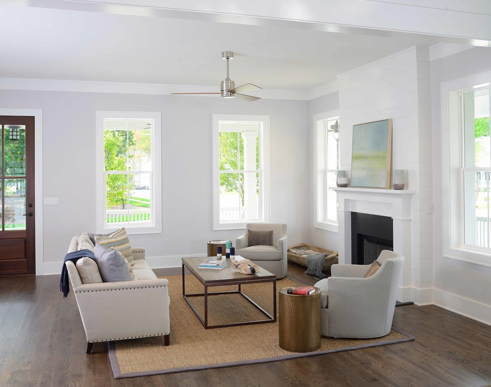 Transitional Style Living Room in Charleston, SC