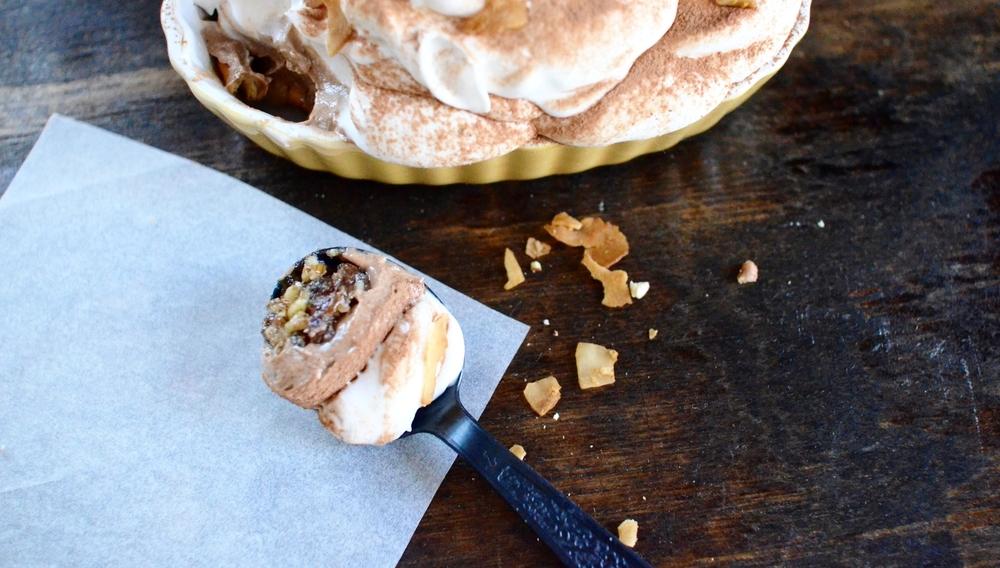Chocolate Coconut Cream Pie with a Pecan Crust recipe 4