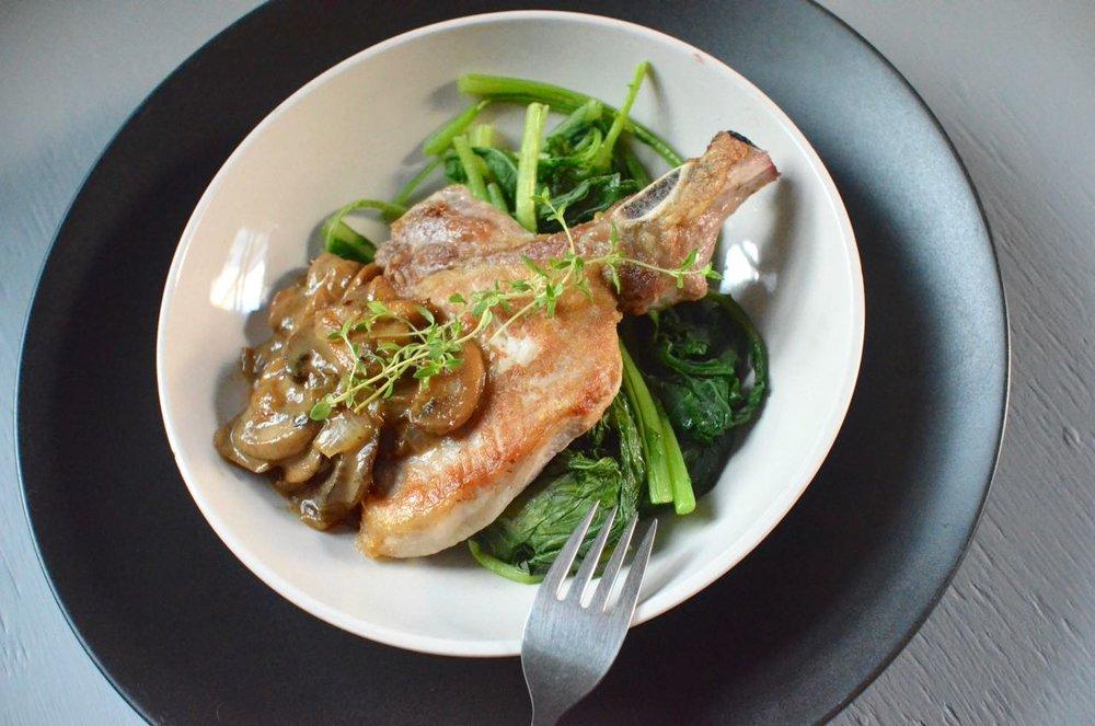 pork chops with mushrooms sauce recipe