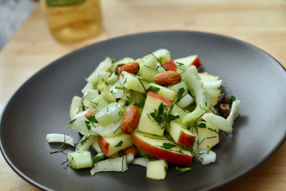 gluten free dairy free fennel and apple salad recipe