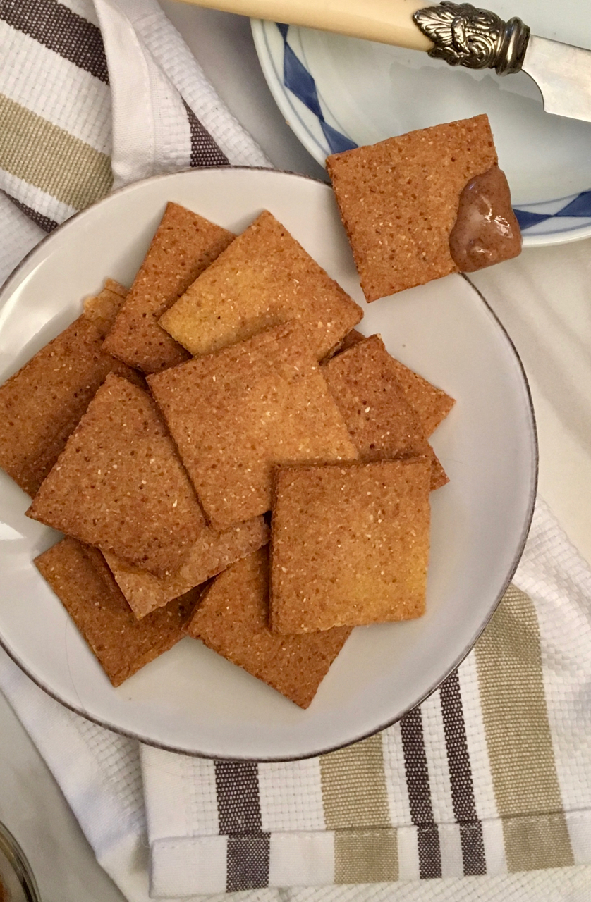 gluten free dairy free quinoa and corn crackers recipe
