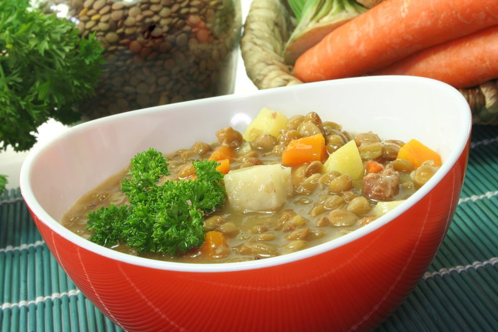 Gluten free dairy free lentils and potatoes recipe