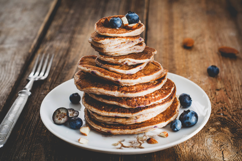 The Best Lemon Blueberry Pancakes Gluten Free Dairy Free vegan paleo