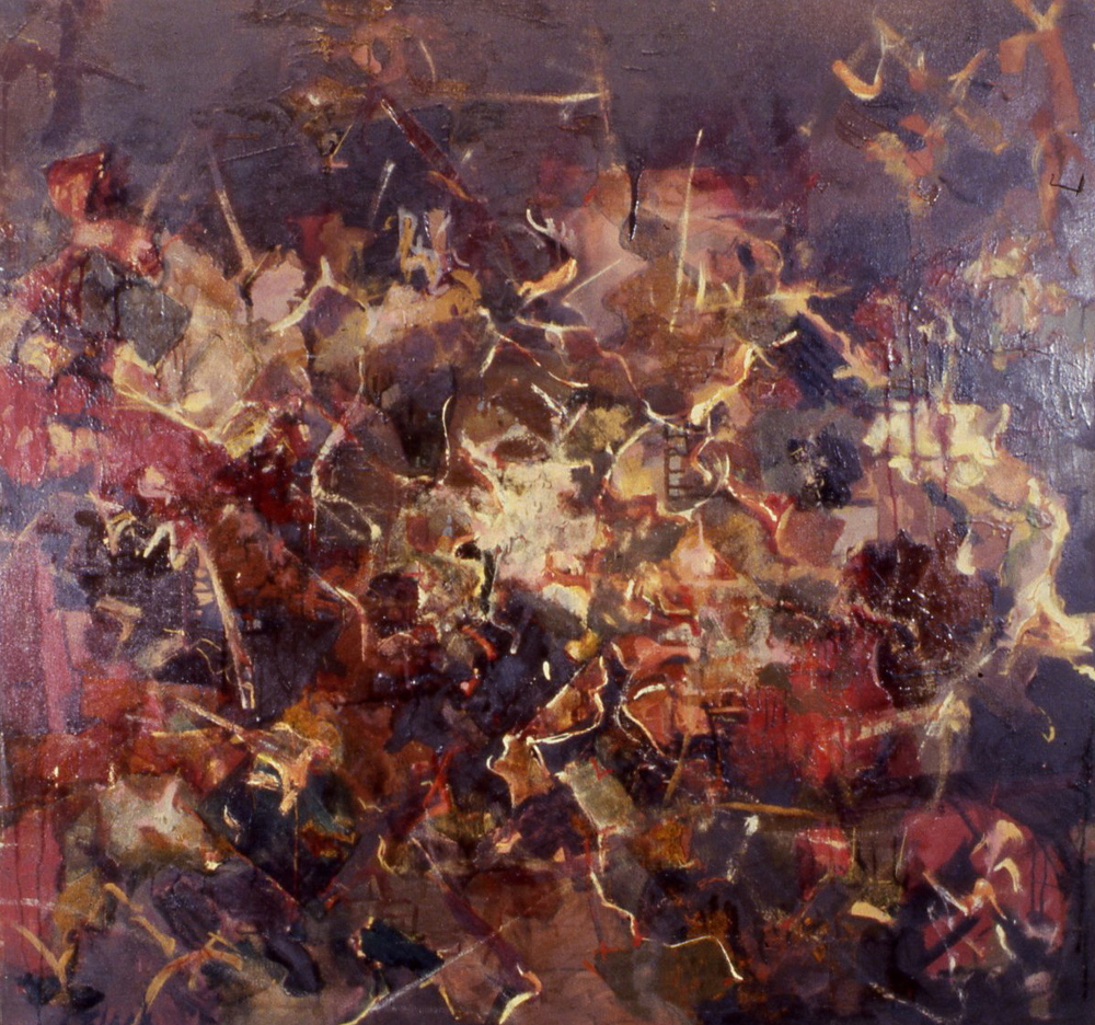 Galaxies: Dark Brown Abstract, 1951, 40x42""
