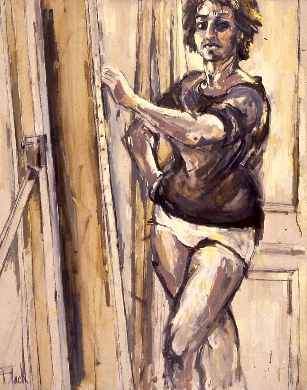 Self Portrait in Underpants, 1958, 52x48""