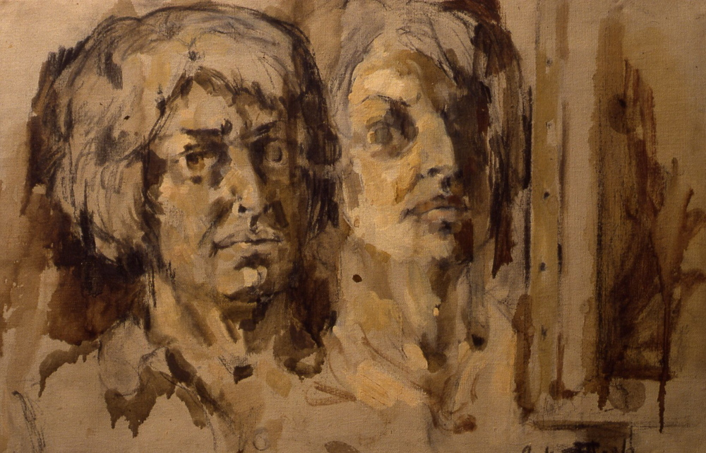 Double Self-Portrait, 1958, 15x22""