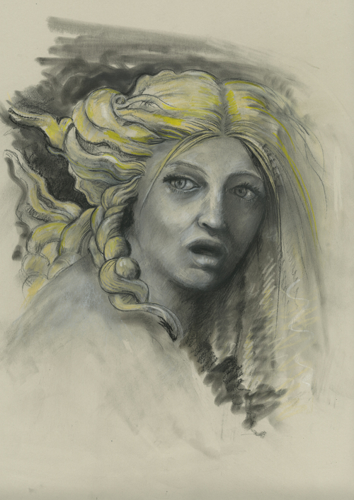 Daphne, 2011 Charcoal and pastel on paper