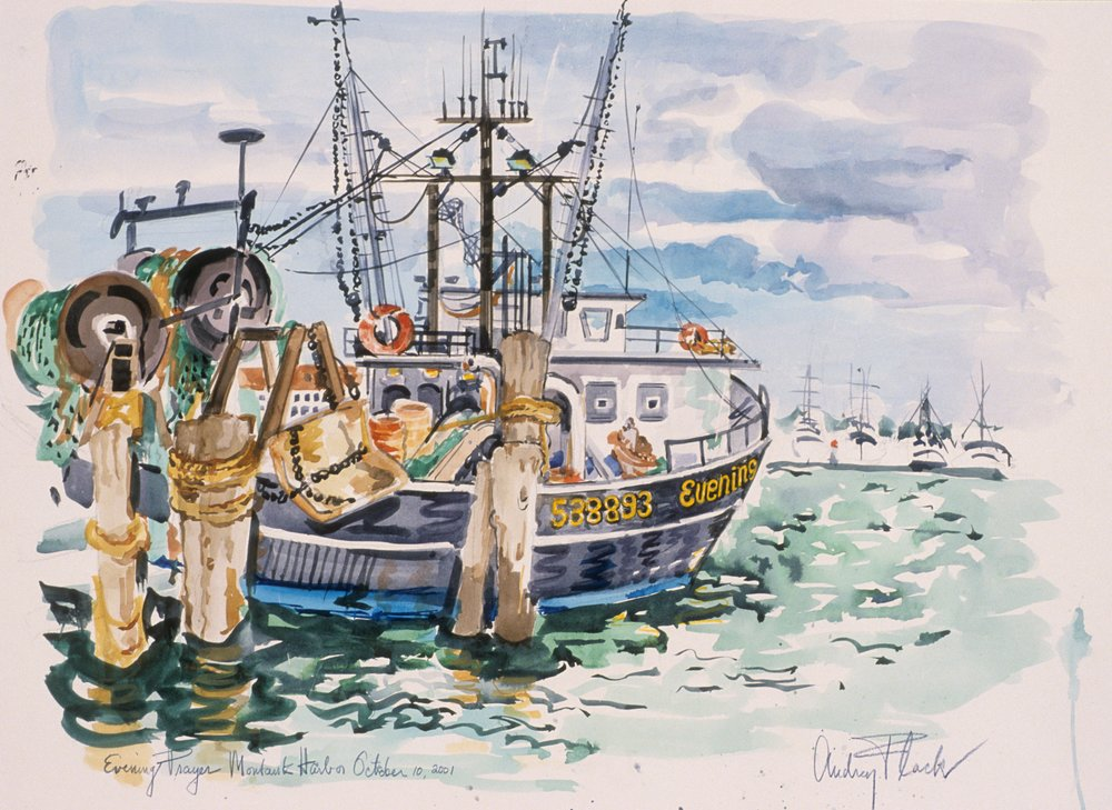 Flack_Evening Prayer Montauk Harbor_October 2001_2001_watercolor.jpg