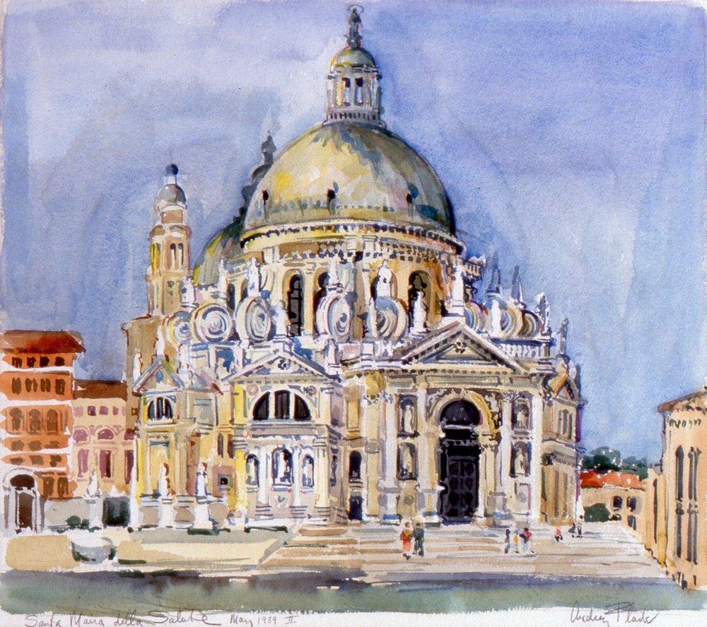 Flack_Santa Maria Della Salute II_1989_watercolor.jpg